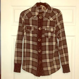 BKE size small pieced button down.